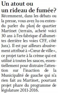 Lettre de Victor Allamand dans le Forum de La Côte Mars 2016